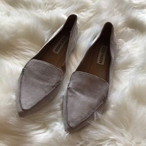"Steve Madden ""Feather"" Suede Almond Point Flats"